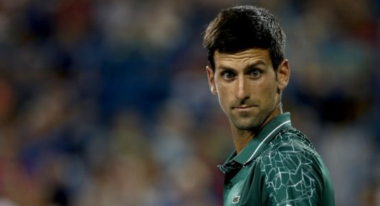 Novak Djokovic looking funny