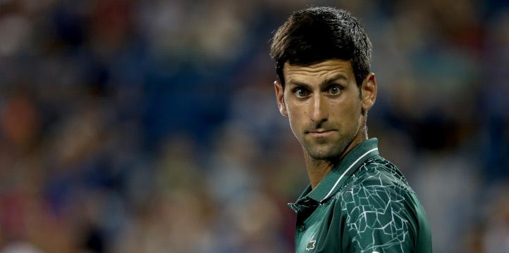 Novak Djokovic looking funny