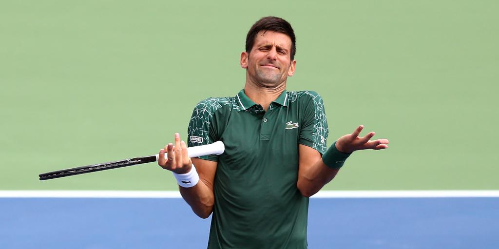 Novak Djokovic confused