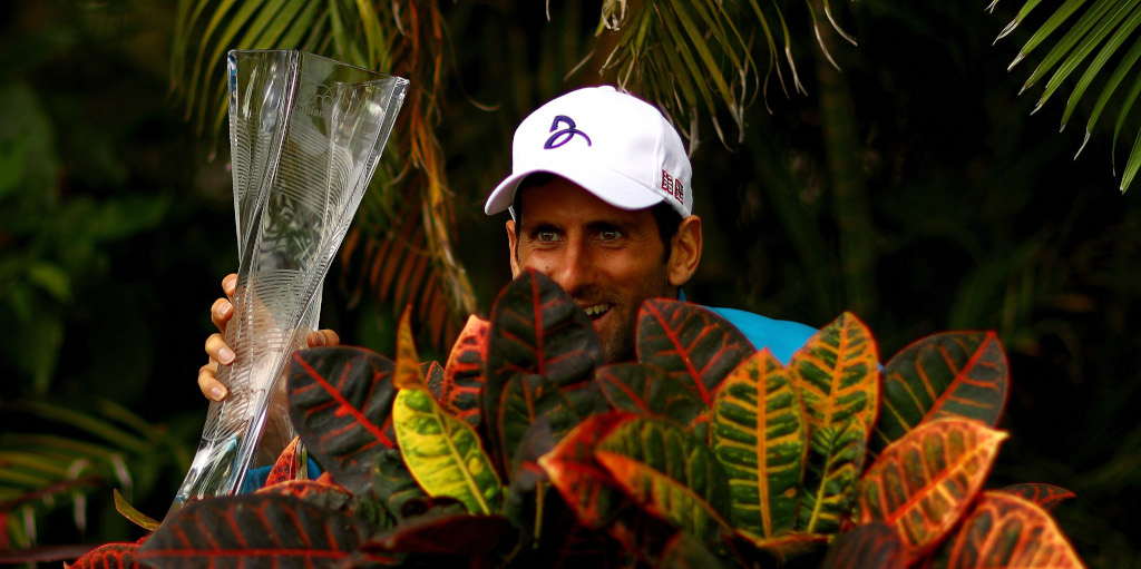 Novak Djokovic at the Miami Open