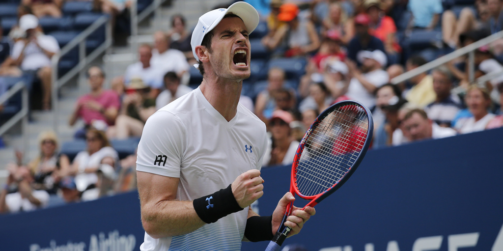 Andy Murray celebrates at US Open