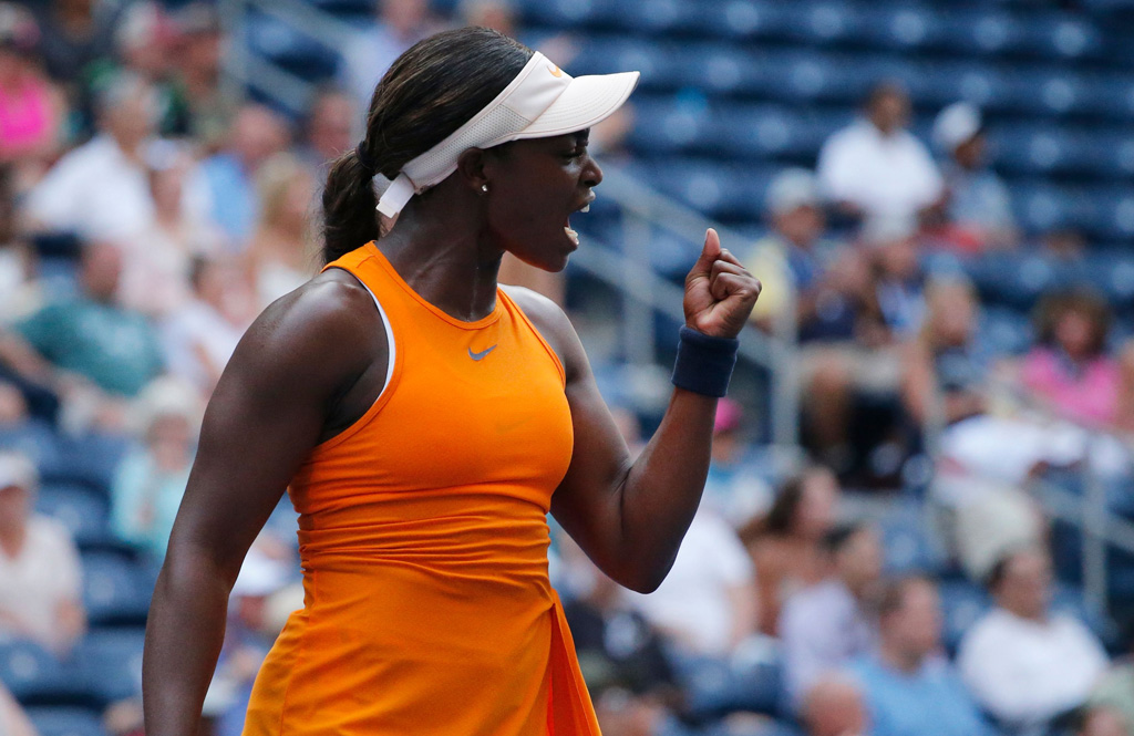 Sloane Stephens celebrates