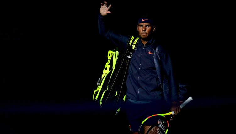 Rafael Nadal arrives on court