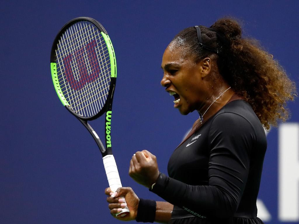 Serena Williams shouting