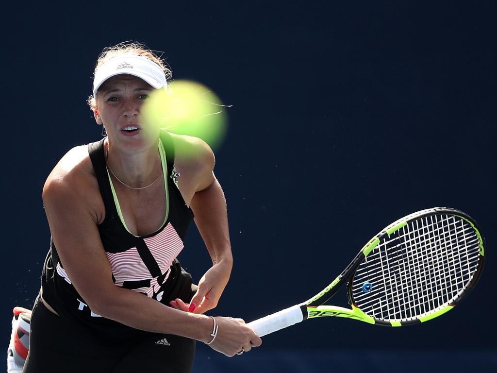 Caroline Wozniacki practice