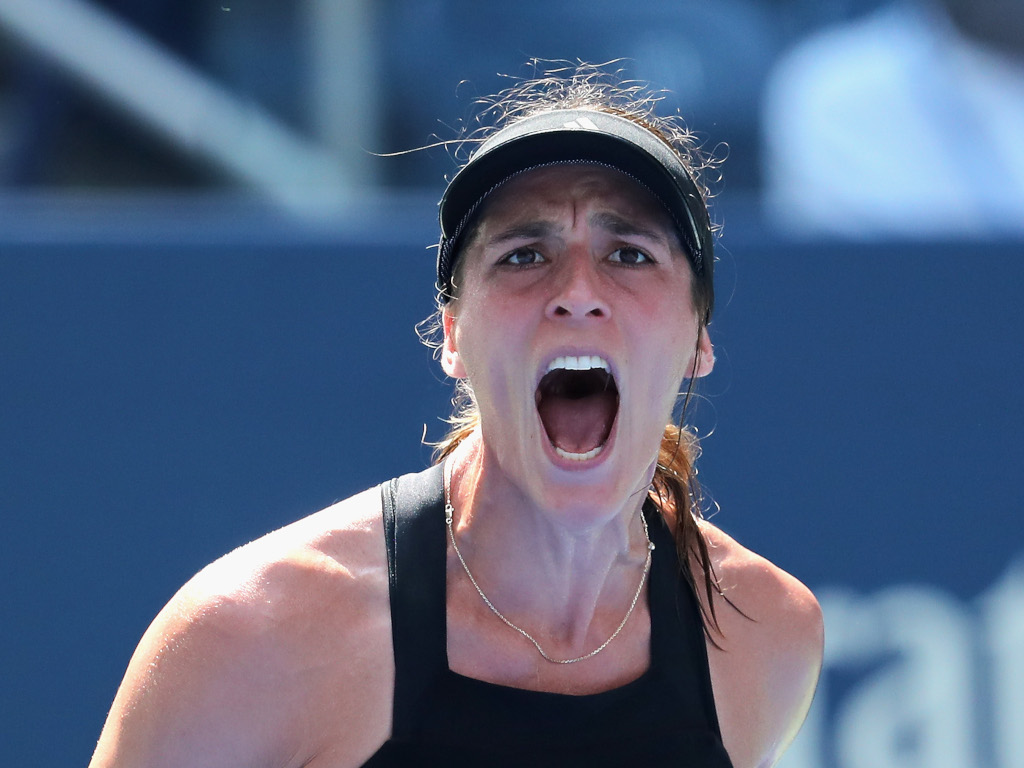 Andrea Petkovic screaming