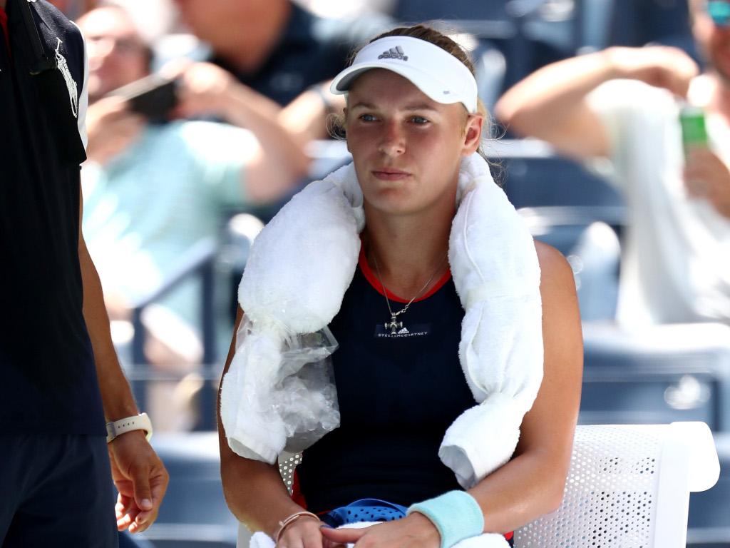Caroline Wozniacki keeping cool