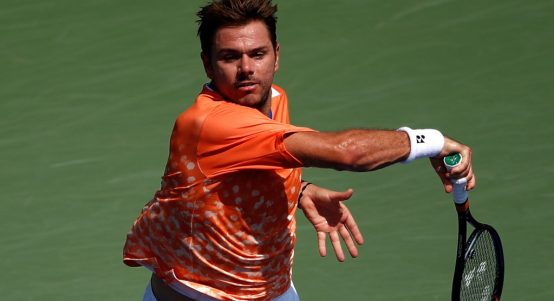 Stan Wawrinka in action