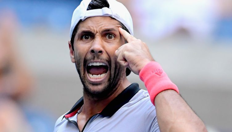 Fernando Verdasco pointing
