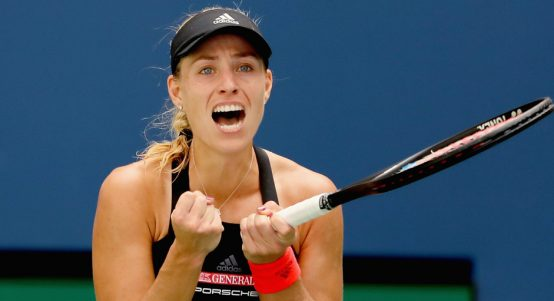 Angelique Kerber celebrates