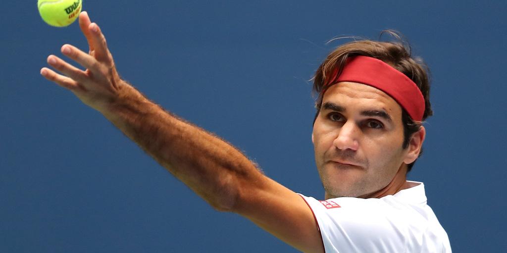 Roger Federer ball toss