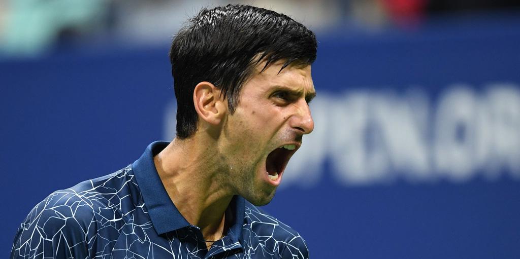 Novak Djokovic roars