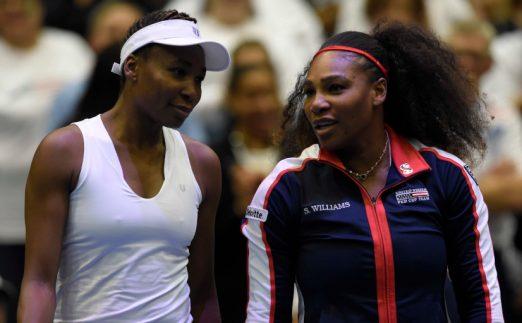 Venus and Serena Williams talking