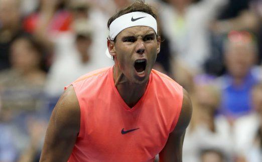 Rafael Nadal shouting