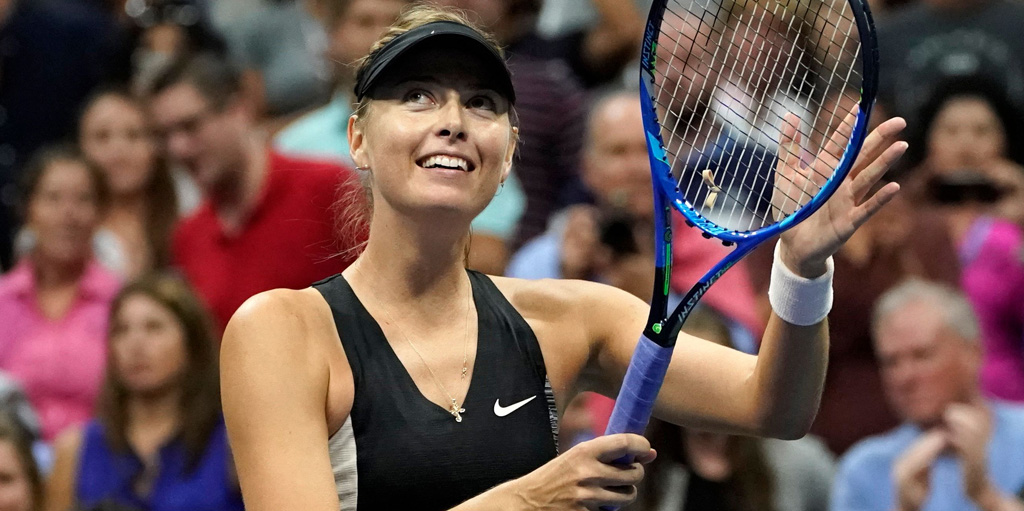 Maria Sharapova after victory
