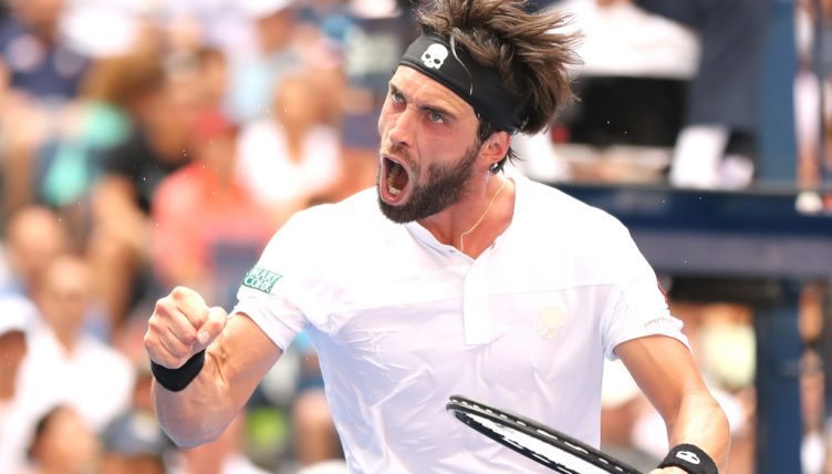 Nikoloz Basilashvili celebrating