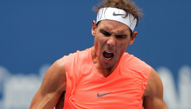 Rafael Nadal winning dance