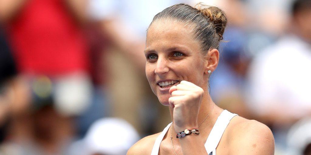 Karolina Pliskova all smiles
