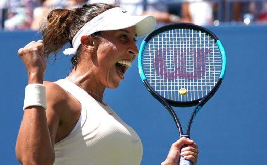 Madison Keys celebrates