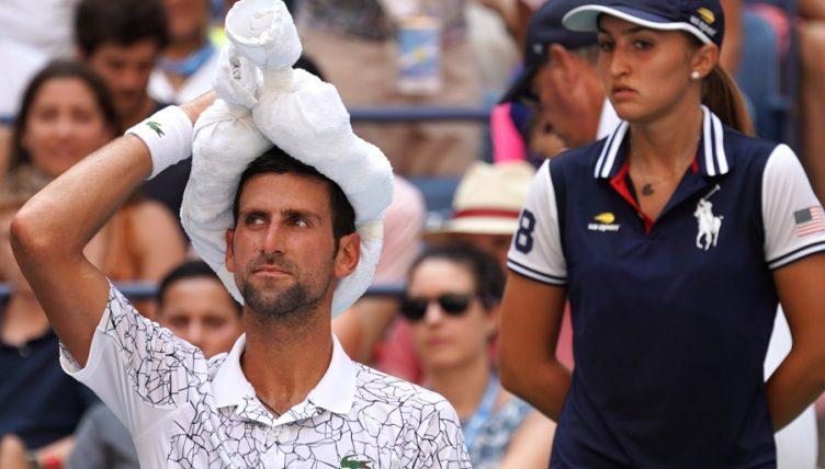 Novak Djokovic cools off at US Open