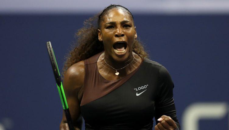 Serena Williams celebrates US Open