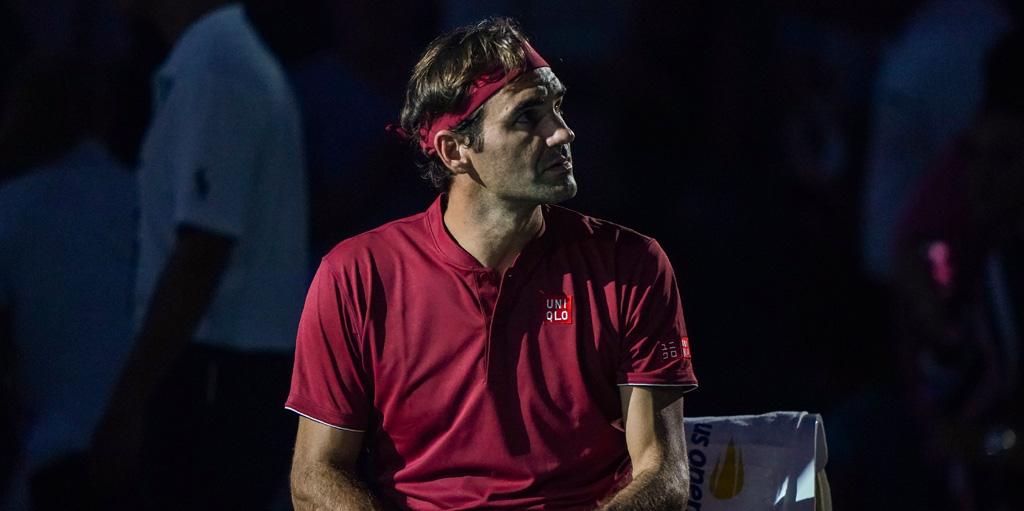 Roger Federer during John Millman match