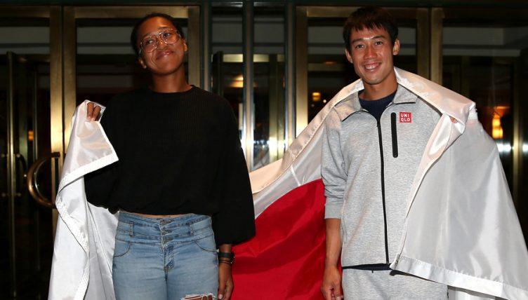Naomi Osaka and Kei Nishikori make US Open history