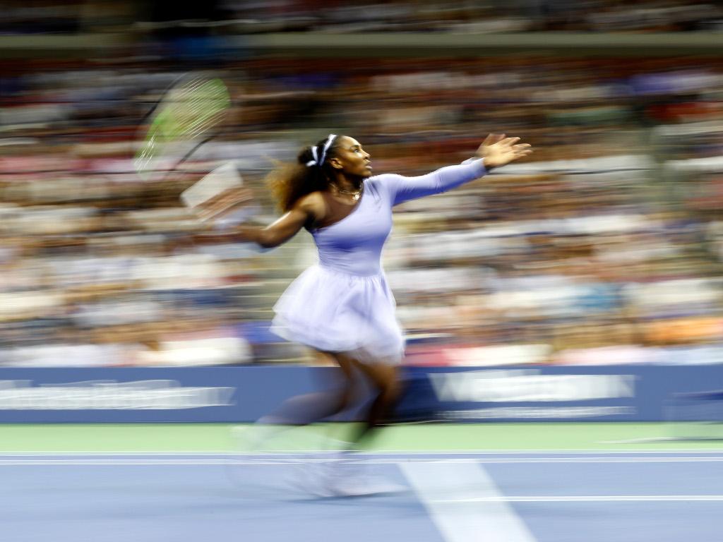 Serena Williams on the move