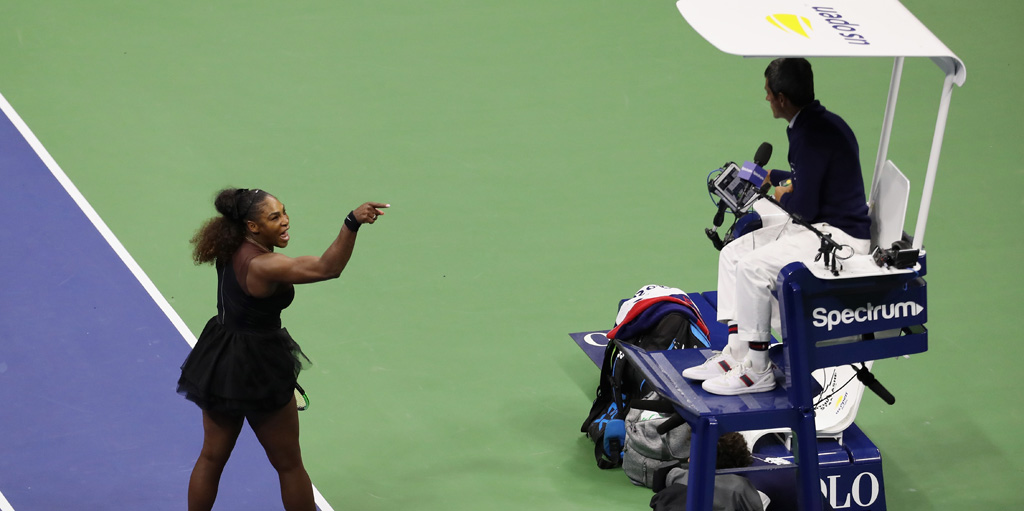 Serena Williams rages at umpire