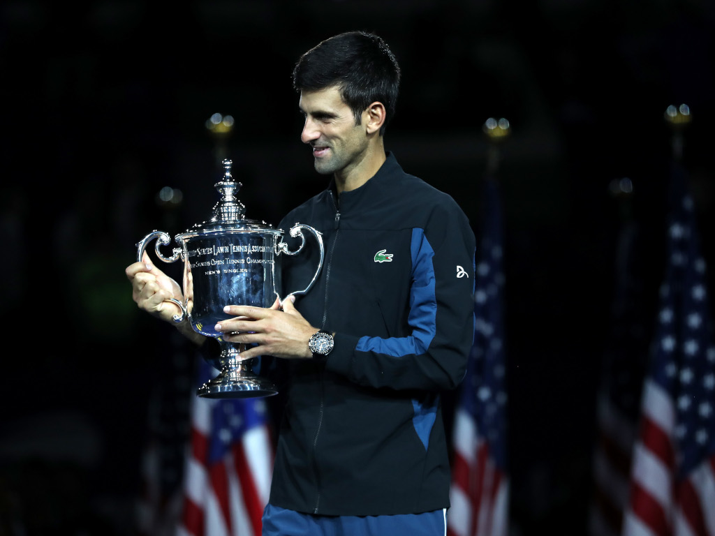 Novak Djokovic US Open trophy