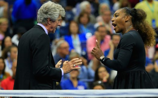 Serena Williams argues with match referee