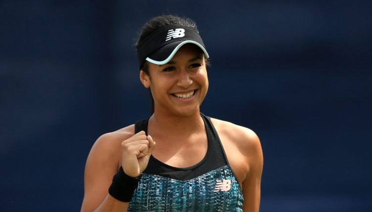 Heather Watson celebrates