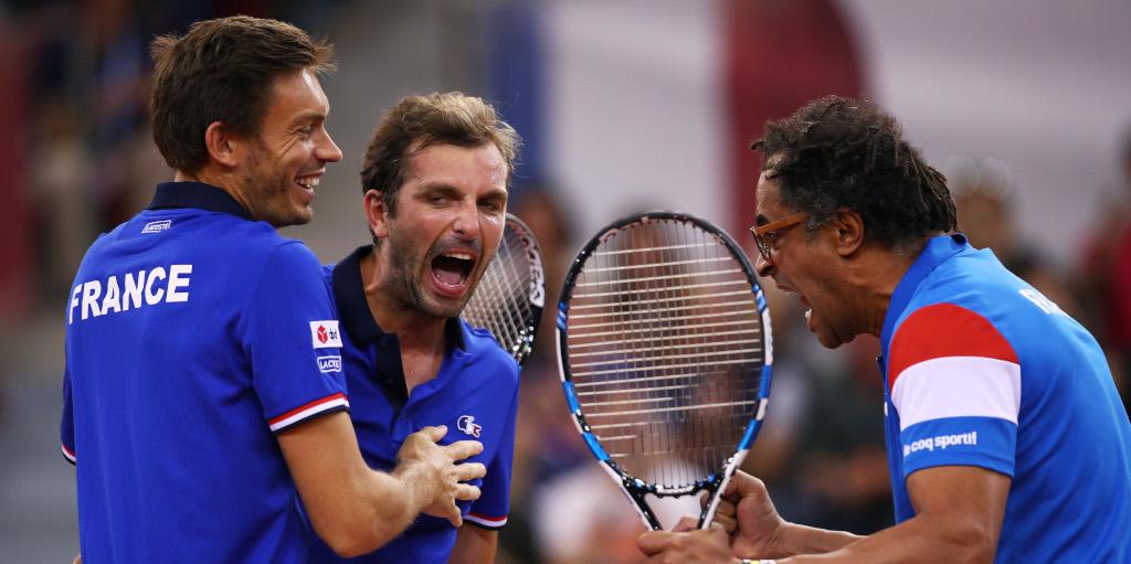 France Davis Cup celebrations