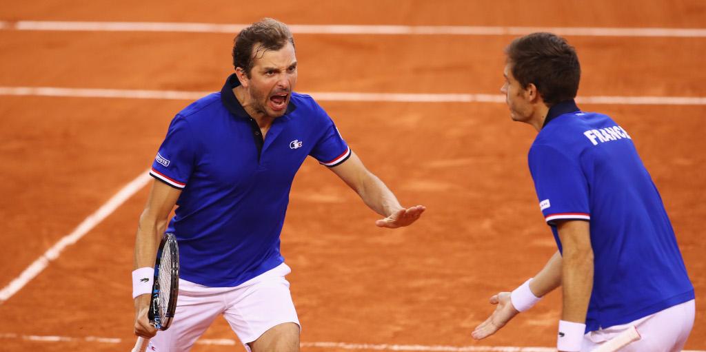 Julien Benneteau Davis Cup celebrations