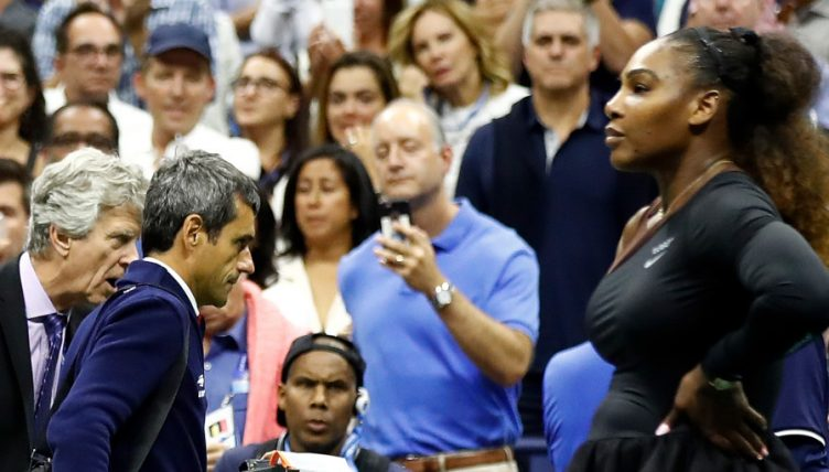 Carlos Ramos and Serena Williams