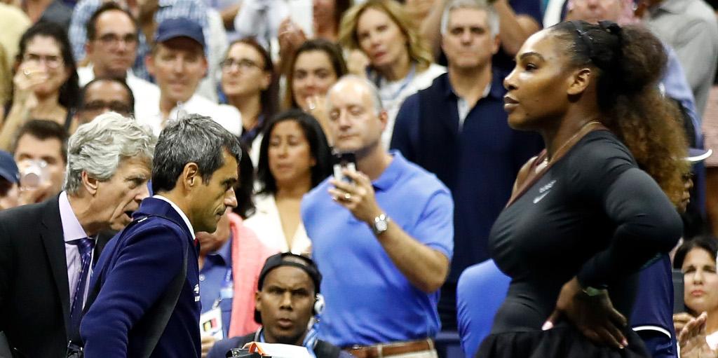 Carlos Ramos and Serena Williams