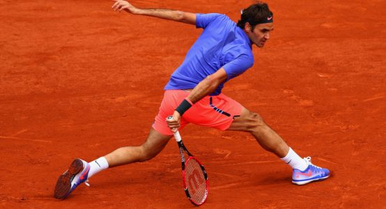 Roger Federer on clay