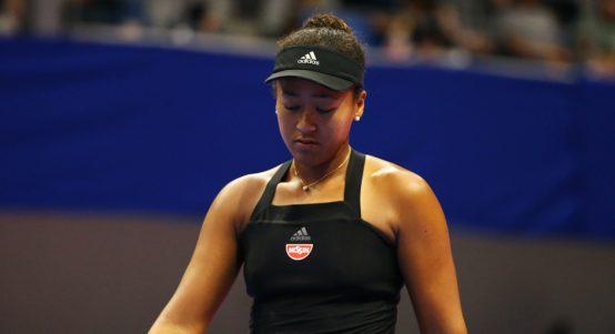 Naomi Osaka dejected