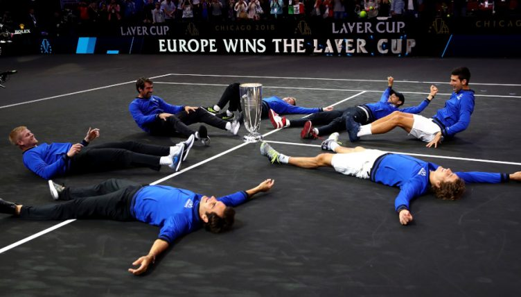 Team Europe Laver Cup celebrations
