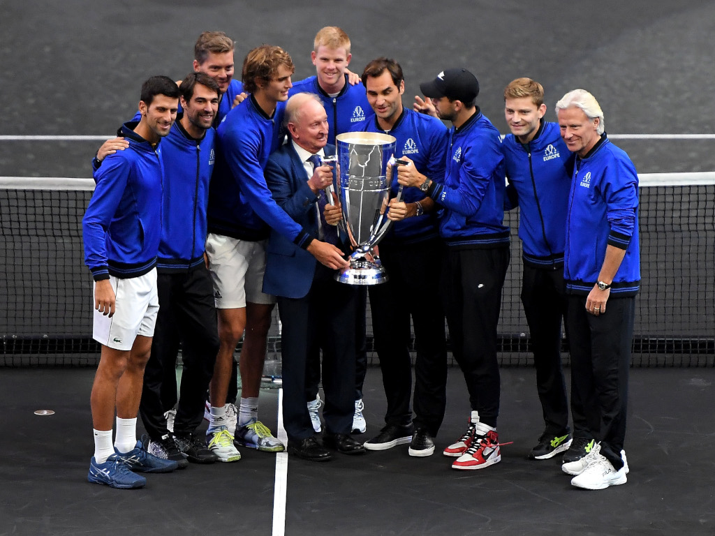 Team Europe with the Laver Cup