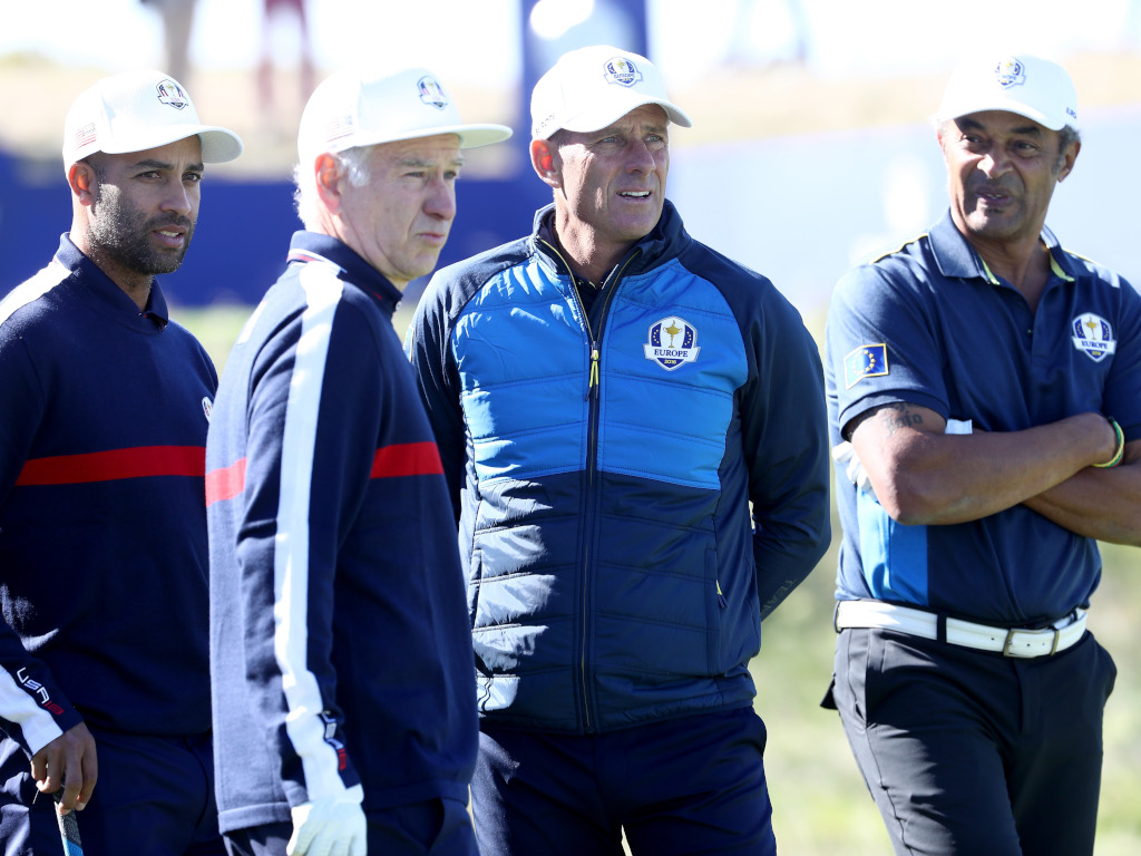 James Blake John McEnroe Guy Forget Yannick Noah at Ryder Cup