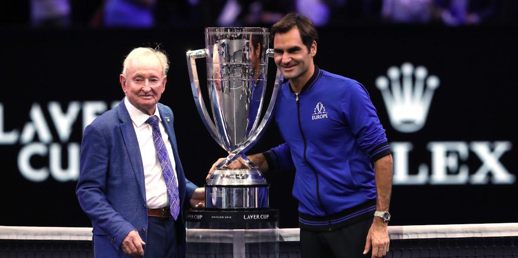 Rod Laver and Roger Federer