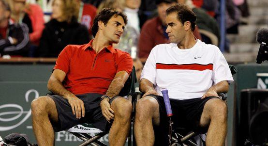Roger Federer and Pete Sampras