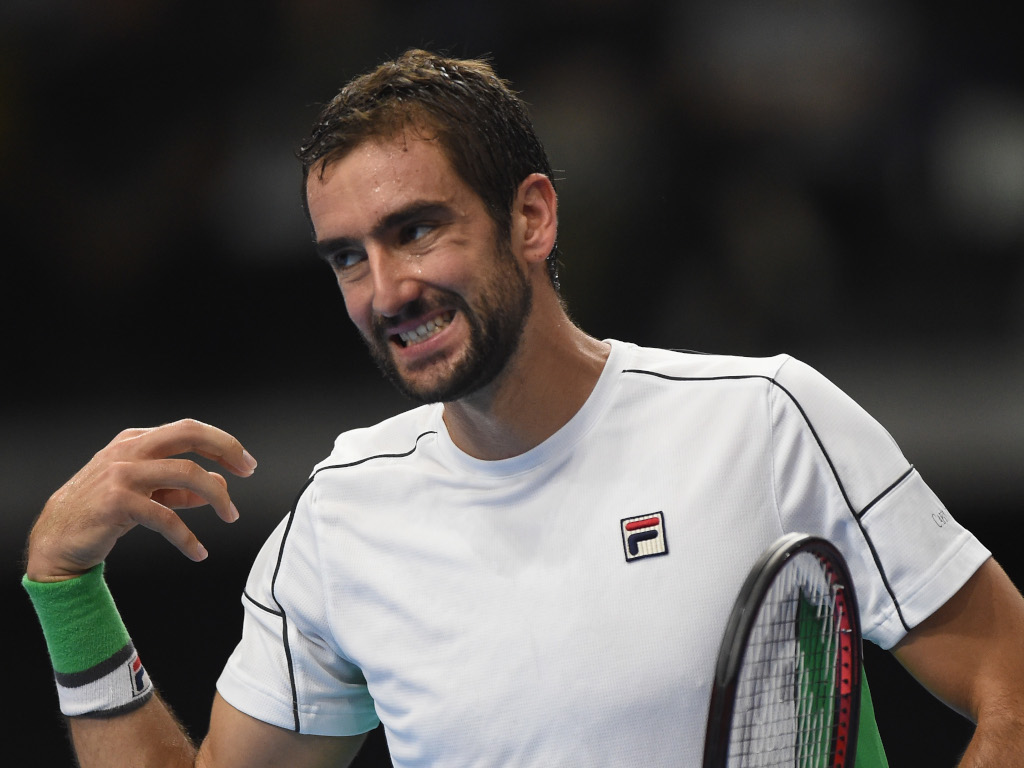 Marin Cilic pulling a face
