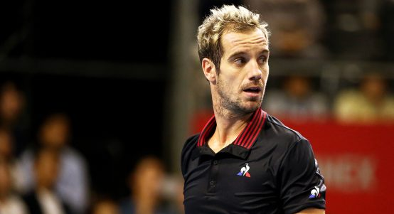 Richard Gasquet looks on