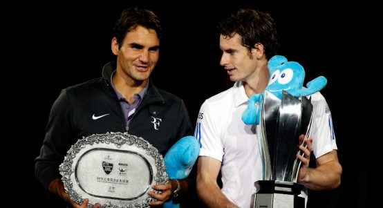 Roger Federer and Andy Murray Shanghai Masters