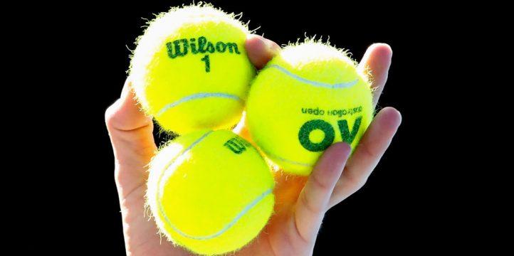 Yellow tennis balls