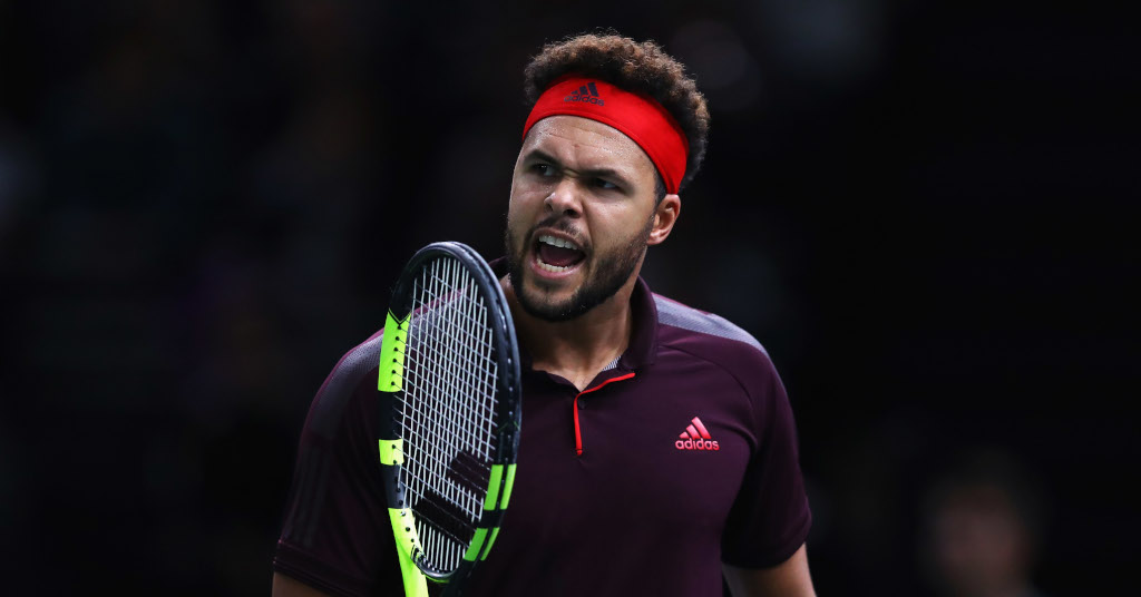 Jo-Wilfried Tsonga celebrates