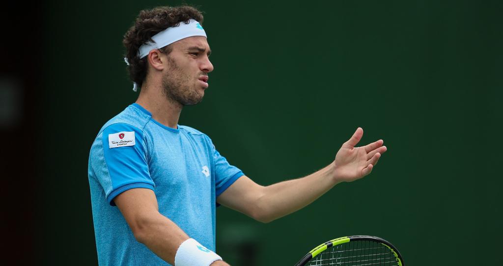 Marco Cecchinato unhappy