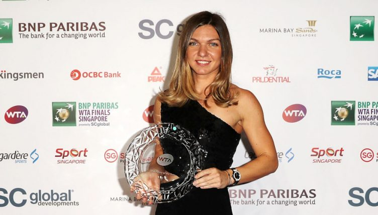 Simona Halep named WTA Player of the Year